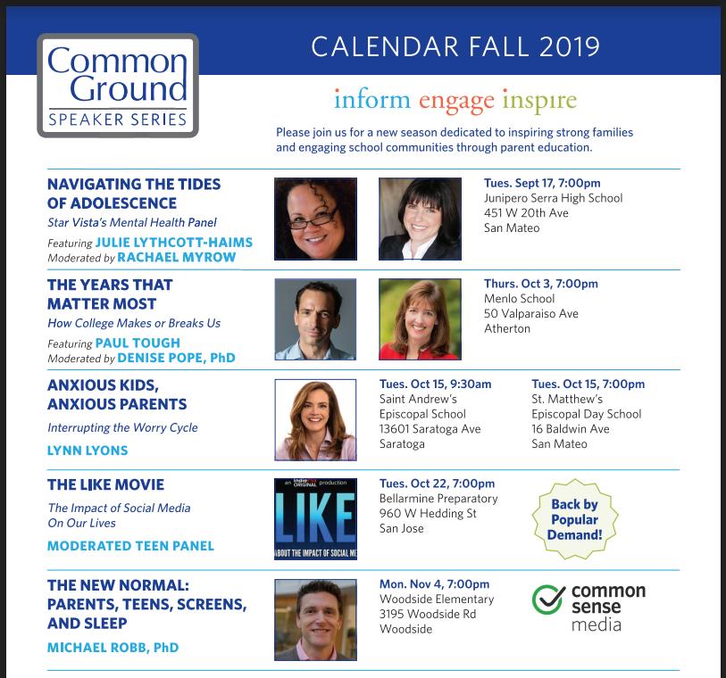 Common Ground Speaker Series 10-10 season begins Sept. 10